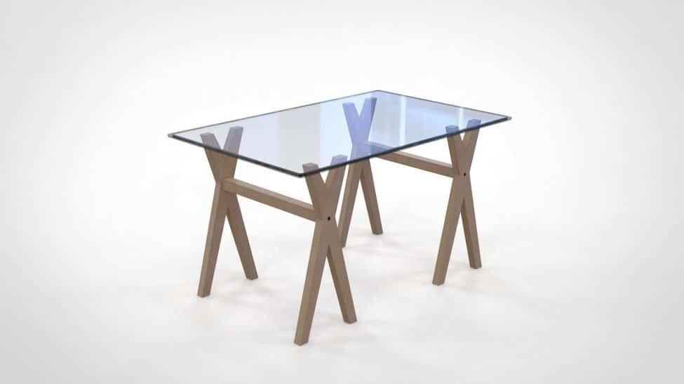 Table avec pied deco ALIXX