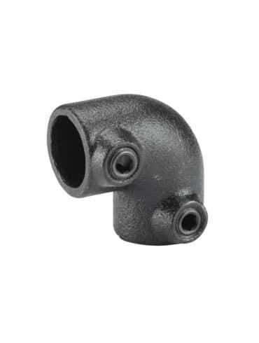 Jonction droite métal noir T Connect
