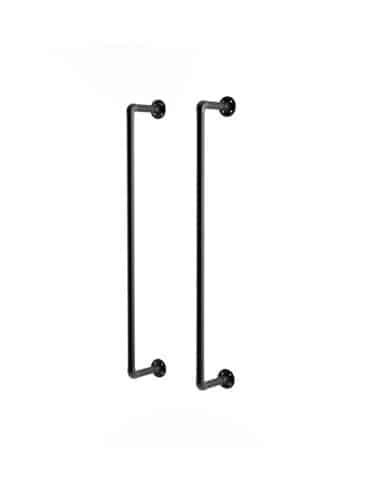 Porte serviette métal noir sur mesure, T Connect