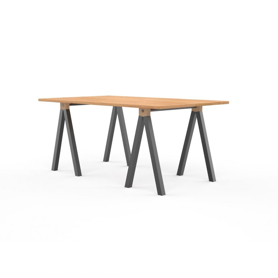 Pied design ASPEN - table plateau bois