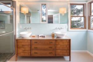 Placage bois meuble salle de bain