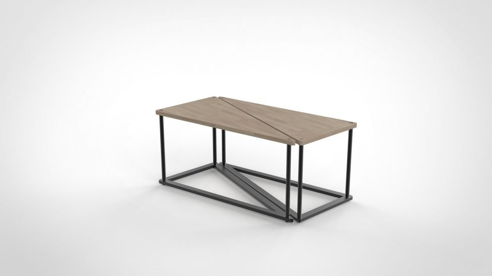 Table basse avec pied deco UNIKK