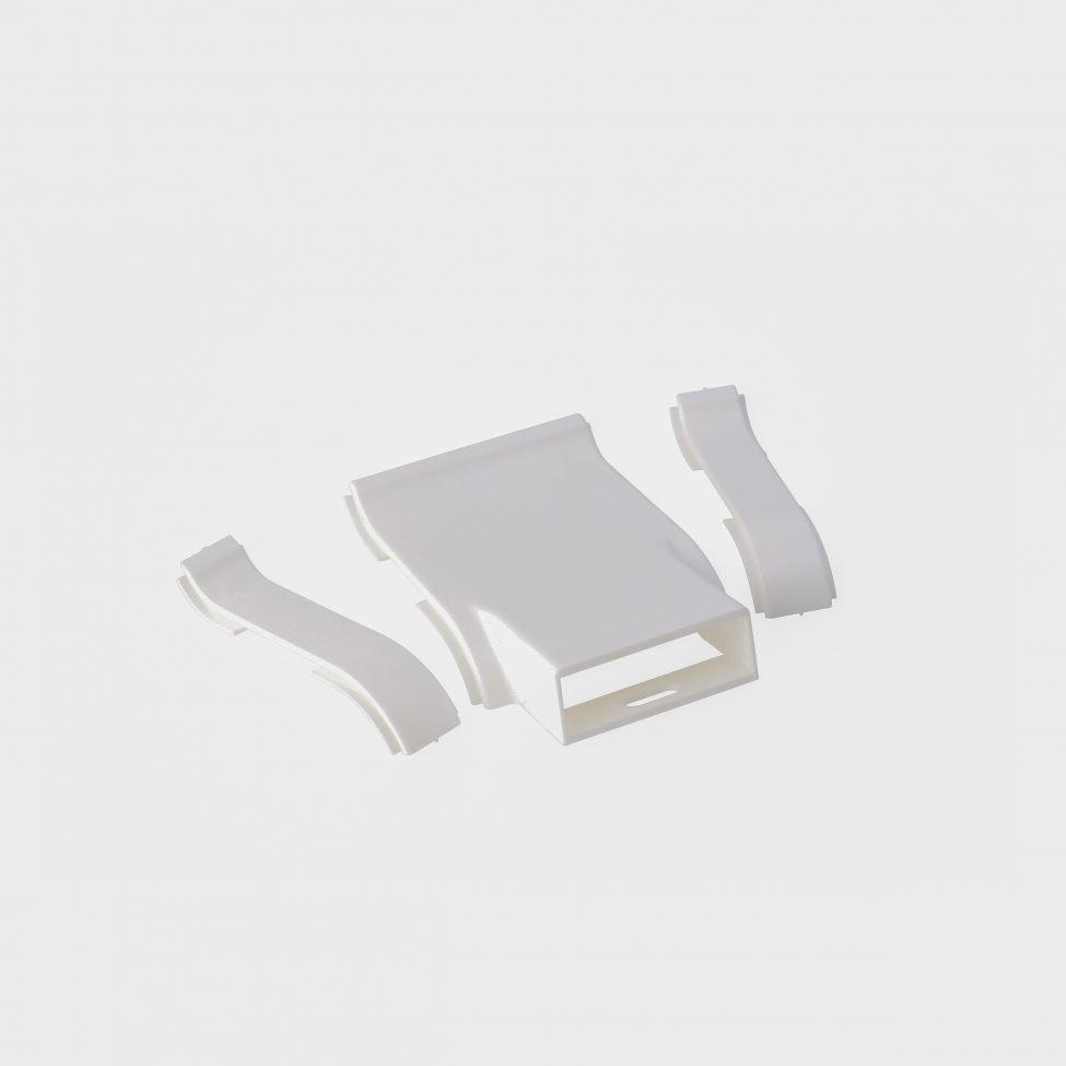 Kit prise et jonction pour plinthe - couleur blanc