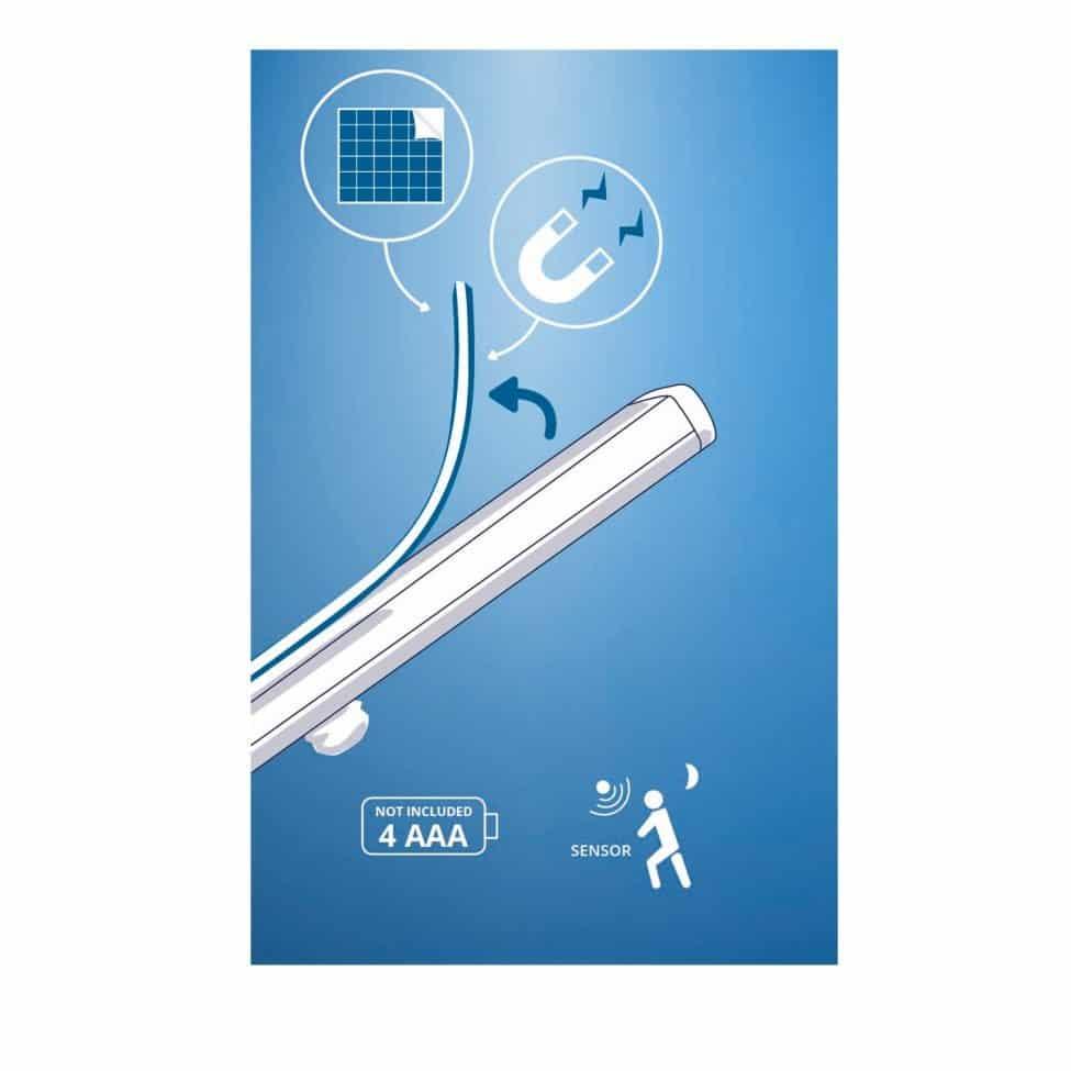 Réglette sans fil LED