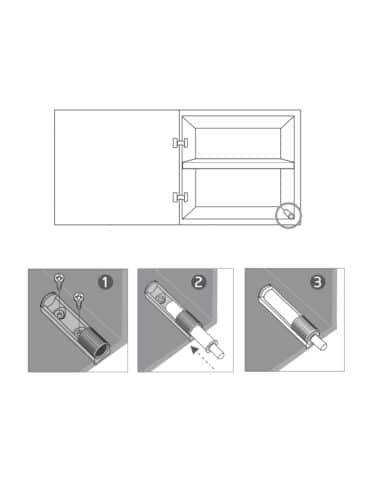 Installation bloque porte placard