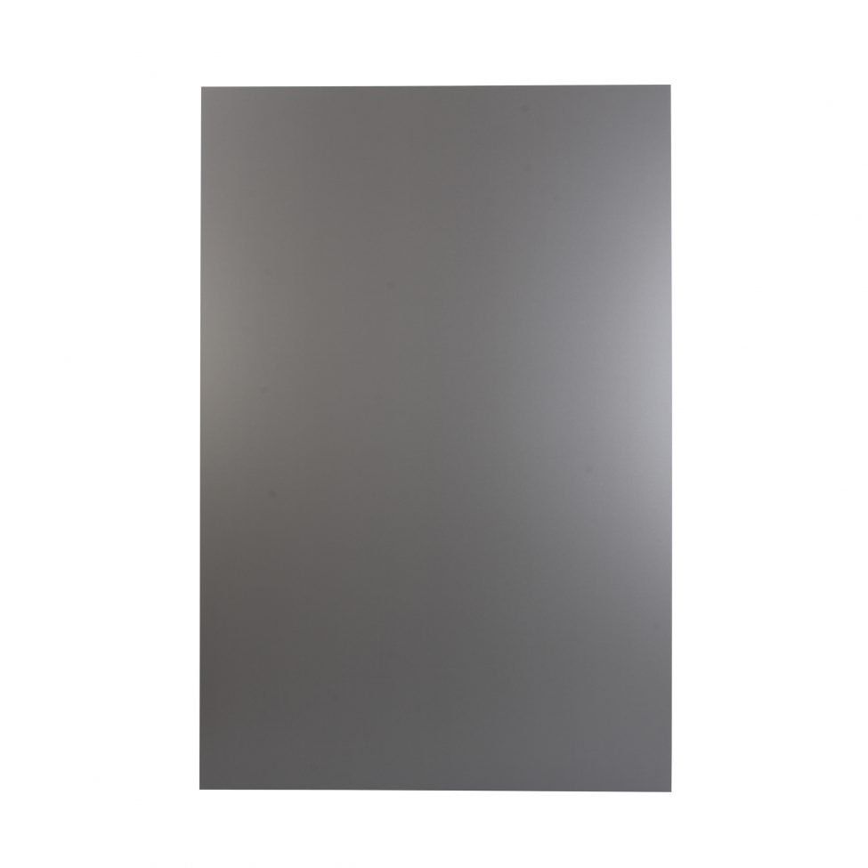 Plaque composite black silver