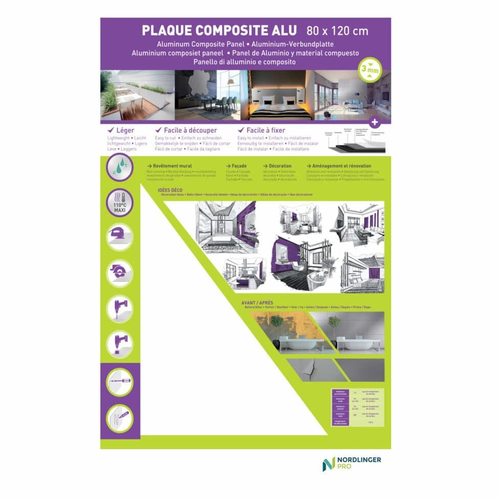 Plaque composite Blanc