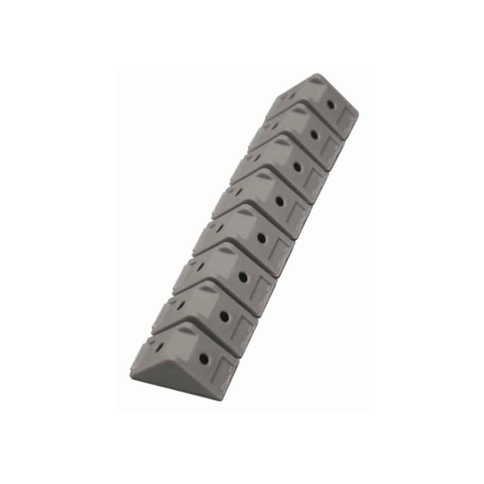 Taquets de meuble gris aluminium