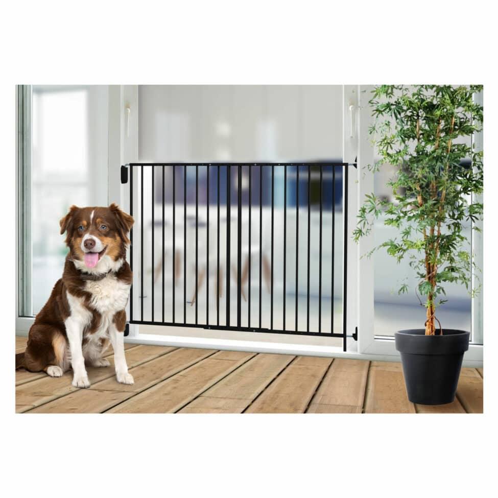 Barrière de sécurité animaux métal noir Kenny maison