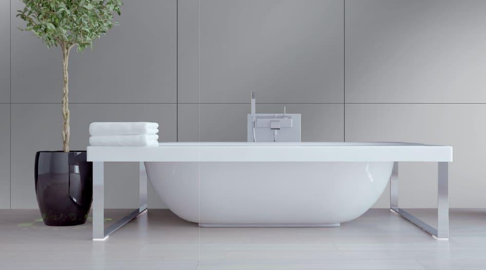 Plaque aluminium salle de bains