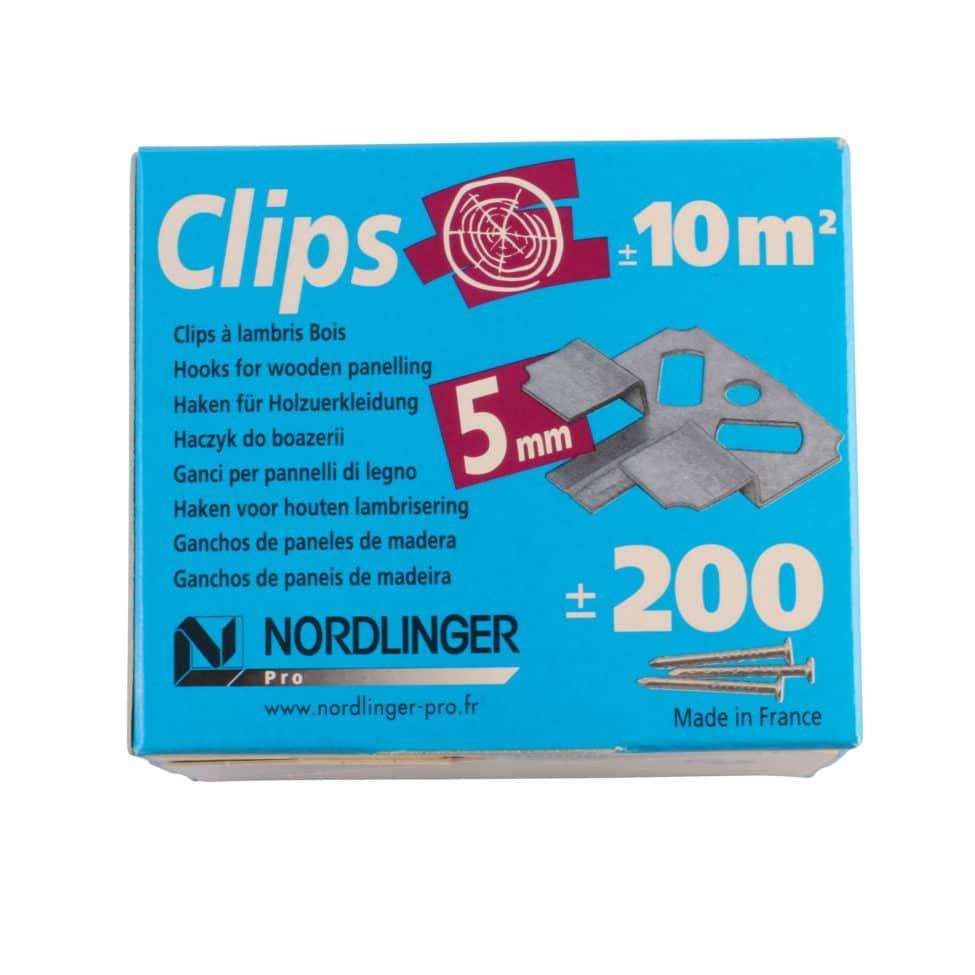 Clips Lambris Bois 5mm