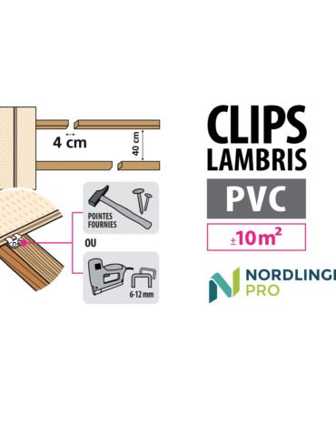 Schéma clips lambris PVC