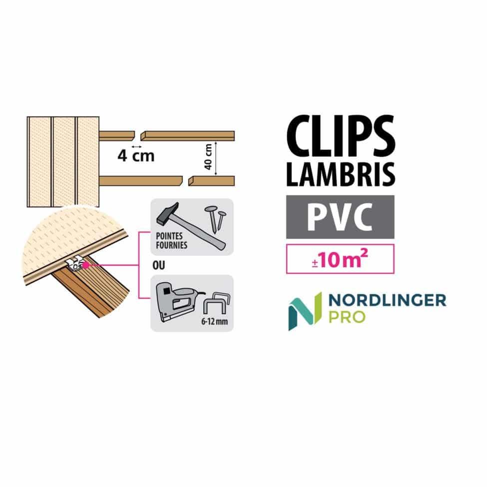 Schéma clips lambris PVC