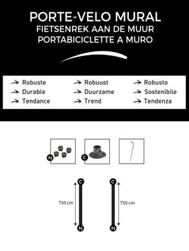 T-Connect-Porte-velo-mural-composition-du-kit