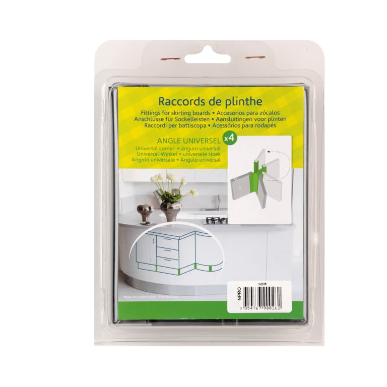 Angle universel plinthe cuisine packaging