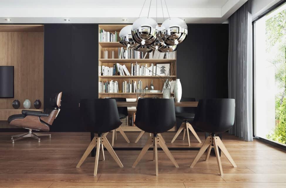 Plaque composite noir brossé salon