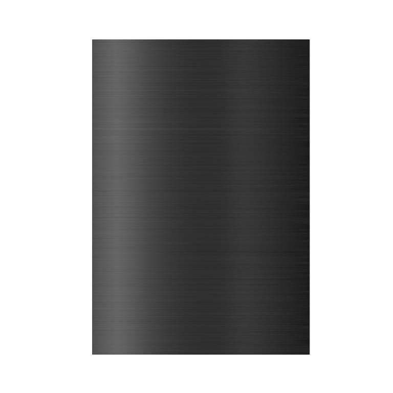 Plaque composite noir brossé