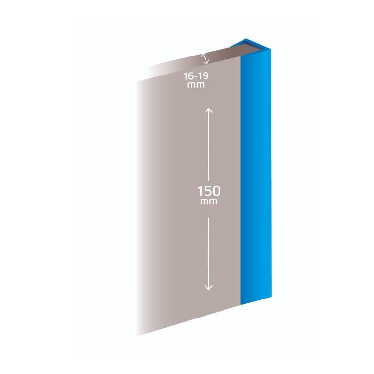 Profil de finition plinthe cuisine mesure
