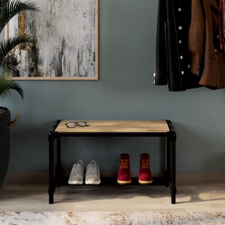 Meuble à chaussure avec assise