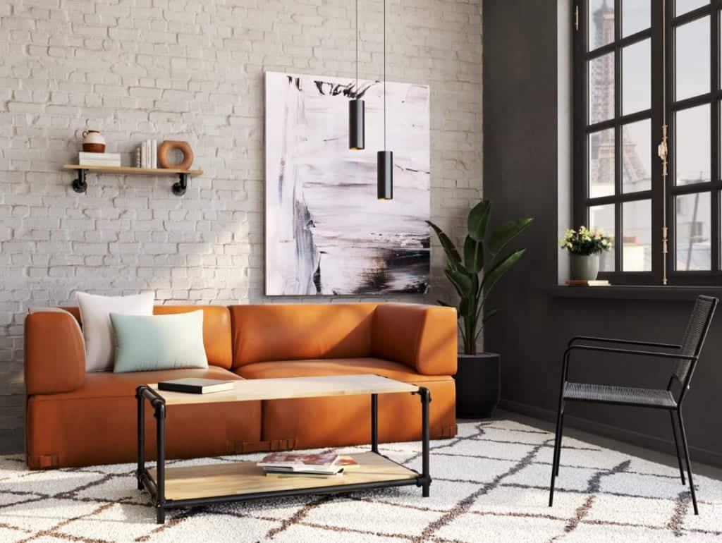 Table basse industrielle 1m x 50cm
